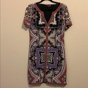 Dresses - Short sleeve Hale Bob V-Neck dress
